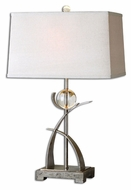 Uttermost 27746 Cortlandt Curved Metal 10  Wide Table Lamp Lighting