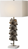 Uttermost 27751-1 Ginkgo Metallic Leaves Side Table Lamp
