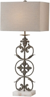 Uttermost 27756-1 Gerosa Distressed Aged Bronze Table Light
