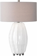 Uttermost 27760-1 Marazion Gloss White Table Lamp