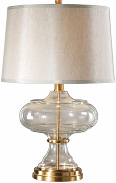Uttermost 27773 Jelani Glass & Brass Table Lighting