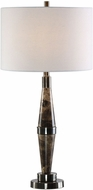 Uttermost 27789-1 Maston Tapered Black Brown Marble Table Light