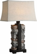 Uttermost 27806-1 Kodiak Rustic Black Metal Side Table Lamp