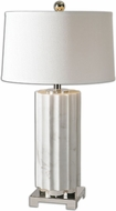 Uttermost 27911-1 Castorano White Marble 17  Wide Table Light