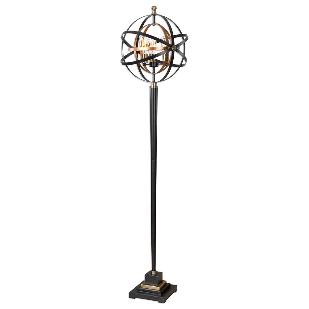 uttermost rondure modern dark oil rubbed bronze lighting floor lamp loading zoom
