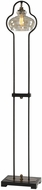 Uttermost 28158-1 Cotulla Modern Aged Black with Brushed Antiqued Brass Floor Lamp