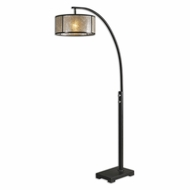 Uttermost 28597-1 Cairano Oil Rubbed Bronze Finish 79.5  Tall Floor Lamp