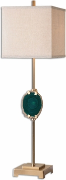 Uttermost 29032-1 Achates Emerald Agate Buffet Lighting Table Lamp