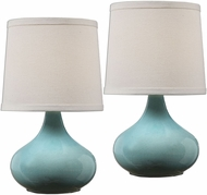 Uttermost 29197-2 Gabbiano Crackled Pale Blue Table Lighting (2 pack)