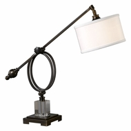 Uttermost 29207-1 Levisa Plated Brushed Dark Bronze Desk Lamp