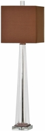 Uttermost 29209-1 Rivanna Clear Glass Buffet Side Table Lamp