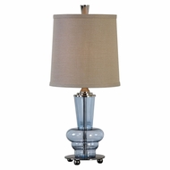 Uttermost 29220-1 Aubin Contemporary Translucent Blue Table Torchiere Lamp