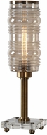 Uttermost 29364-1 Adelardo Antique Brass Tubular Bulb Accent Lamp
