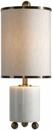 Uttermost 29396-1 Meelagh Contemporary White Marble Table Lamp Lighting