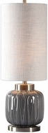 Uttermost 29559-1 Zahlia Heavily Antiqued Brass Plated Table Lamp Lighting