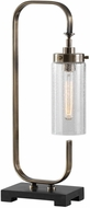 Uttermost 29563-1 Keltie Contemporary Plated Antique Brass Desk Lamp