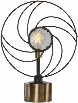 Uttermost 29589-1 Ventilador Modern Rustic Black Reading Light