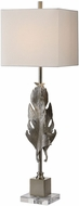Uttermost 29591-1 Luma Metallic Silver Table Top Lamp