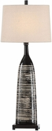 Uttermost 29617-1 Kanza Gloss Black Glaze Table Top Lamp