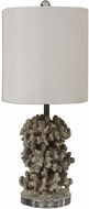 Uttermost 29774-1 Silver Coral Antiqued Silver Lighting Table Lamp