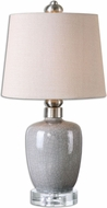 Uttermost 29988-1 Ovidius Mini Crackle Gray Table Light