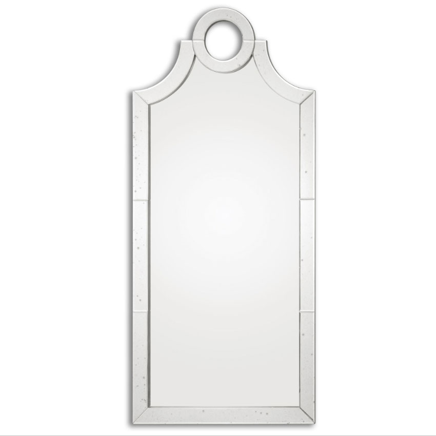 "Tall Wall Mirrors uttermost 08127 acacius arched 66"" tall wall mounted mirror - utt"