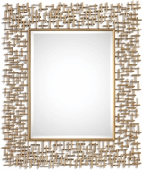 Uttermost 8139 Nevena Antiqued Gold Leaf Gold Mirror