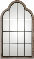 Uttermost 9524 Gavorrano Lightly Burnished Reclaimed Pine / Gray Wash Oversized Arch Mirror