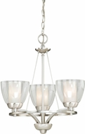 Vaxcel AA-CHU003SN Asti Modern Satin Nickel Finish 19.5  Tall Mini Chandelier Light