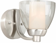 Vaxcel AA-VLU001SN Asti Contemporary Satin Nickel Finish 8.25 Wide Wall Sconce