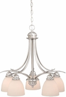 Vaxcel AL-CHD005BN Avalon Brushed Nickel Mini Chandelier Light