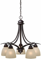 Vaxcel AL-CHD005OBB Avalon Oil Burnished Bronze Mini Chandelier Lighting