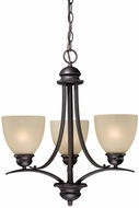 Vaxcel AL-CHU003OBB Avalon Oil Burnished Bronze Mini Chandelier Lamp