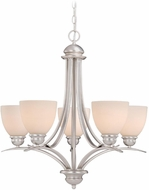 Vaxcel AL-CHU005BN Avalon Brushed Nickel Chandelier Light