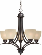 Vaxcel AL-CHU005OBB Avalon Oil Burnished Bronze Ceiling Chandelier
