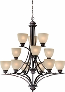 Vaxcel AL-CHU012OBB Avalon Oil Burnished Bronze Lighting Chandelier