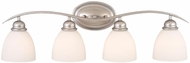 Vaxcel AL-VLD004BN Avalon Brushed Nickel 4-Light Bathroom Lighting Fixture