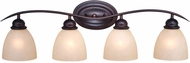 Vaxcel AL-VLD004OBB Avalon Oil Burnished Bronze 4-Light Vanity Lighting