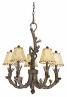 Vaxcel AS-CHS005PT Aspen Country Pine Tree Finish 27  Wide Chandelier Lighting