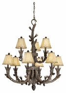Vaxcel AS-CHS009PT Aspen Rustic Pine Tree Finish 41.5  Tall Lighting Chandelier