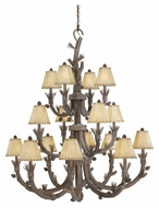 Vaxcel AS-CHS016PT Aspen Country Pine Tree Finish 46  Wide Chandelier Lamp