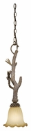 Vaxcel AS-PDD070PT Aspen Rustic Pine Tree Finish 25.5  Tall Mini Pendant Light