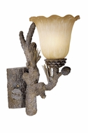 Vaxcel AS-VLU001PT Aspen Rustic Pine Tree Finish 14.5  Tall Wall Sconce