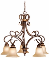 Vaxcel BE-CHD005AW Berkeley Traditional Aged Walnut Finish 26 Wide Ceiling Chandelier