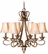 Vaxcel BE-CHS006AW Berkeley Traditional Aged Walnut Finish 26 Tall Hanging Chandelier
