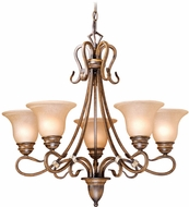 Vaxcel BE-CHU005AW Berkeley Traditional Aged Walnut Finish 26  Wide Lighting Chandelier