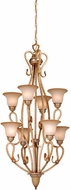 Vaxcel BE-CHU008CA Berkeley Traditional Corinthian Patina Finish 24  Wide Chandelier Light
