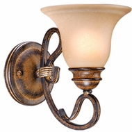 Vaxcel BE-VLU001AW Berkeley Traditional Aged Walnut Finish 8.63 Tall Lamp Sconce