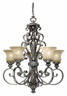 Vaxcel BG-CHU005PZ Bellagio Traditional Parisian Bronze Finish 27  Wide Lighting Chandelier