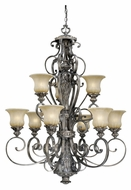 Vaxcel BG-CHU009PZ Bellagio Traditional Parisian Bronze Finish 48  Tall Chandelier Lamp